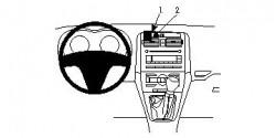 Fixation voiture Proclip  Brodit Toyota Auris Réf 853984