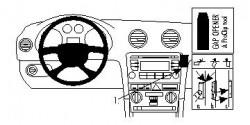 Fixation voiture Proclip  Brodit Audi A3  PAS pour les modèles avec écran de navigation. Réf 853991