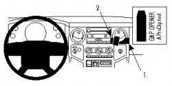 Fixation voiture Proclip  Brodit Ford F-Series 250  PAS pour les modèles avec rabaissez système de navigation. Réf 854014