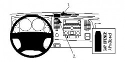 Fixation voiture Proclip  Brodit Chevrolet Silverado  UNIQUEMENT pour WT, LT1 et LT2. Réf 854020