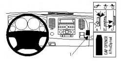Fixation voiture Proclip  Brodit Chevrolet Silverado  UNIQUEMENT pour WT, LT1 et LT2. Réf 854021