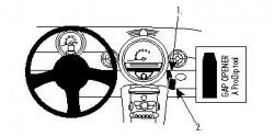 Fixation voiture Proclip  Brodit Mini Cooper  SEULEMENT pour les modèles avec boîte à gants supérieure. Réf 854046