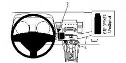 Fixation voiture Proclip  Brodit Mitsubishi Lancer Réf 854051