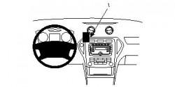Fixation voiture Proclip  Brodit Ford Mondeo  PAS pour les modèles avec écran de navigation. PAS pour les affaires X. Réf 854055