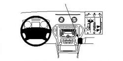 Fixation voiture Proclip  Brodit Ford Mondeo  PAS pour les affaires X. Réf 854056