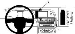 Fixation voiture Proclip  Brodit Audi A4 Avant Réf 854062