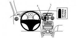 Fixation voiture Proclip  Brodit Peugeot 308  PAS pour les modèles avec option GPS d'origine. Réf 854071