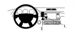 Fixation voiture Proclip  Brodit Land Rover Range Rover Réf 854085
