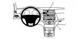 Fixation voiture Proclip  Brodit Honda Accord  PAS pour les modèles avec option GPS d'origine. Réf 854098