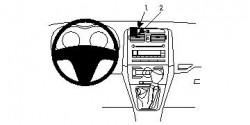 Fixation voiture Proclip  Brodit Toyota Corolla Réf 854119