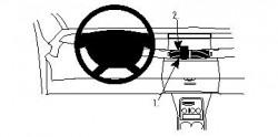 Fixation voiture Proclip  Brodit Renault Espace Réf 854121