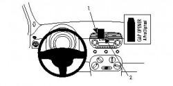 Fixation voiture Proclip  Brodit Fiat 500 Réf 854124
