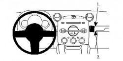 Fixation voiture Proclip  Brodit Mazda 2 Réf 854128