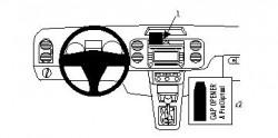 Fixation voiture Proclip  Brodit Volkswagen Golf Plus Réf 854135
