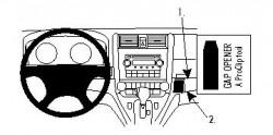 Fixation voiture Proclip  Brodit Honda CR-V Réf 854144