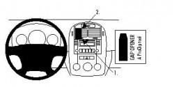 Fixation voiture Proclip  Brodit Kia Spectra Réf 854147