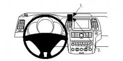 Fixation voiture Proclip  Brodit Nissan CrossCabriolet Réf 854149