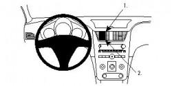 Fixation voiture Proclip  Brodit Chevrolet Malibu Réf 854155