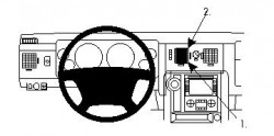 Fixation voiture Proclip  Brodit Hummer H2 Réf 854157