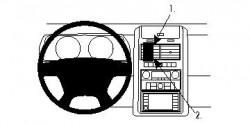 Fixation voiture Proclip  Brodit Dodge Journey Réf 854161