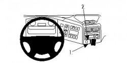 Fixation voiture Proclip  Brodit Mercedes Benz Atego Réf 854180