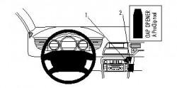 Fixation voiture Proclip  Brodit Citroen C5 III Réf 854181