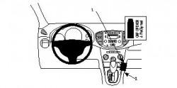 Fixation voiture Proclip  Brodit Hyundai i10 Réf 854184