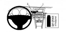 Fixation voiture Proclip  Brodit Acura TSX  PAS pour les modèles avec option GPS d'origine. Réf 854193