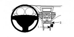Fixation voiture Proclip  Brodit Acura TSX Réf 854194