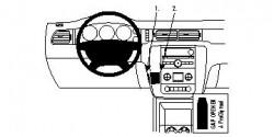 Fixation voiture Proclip  Brodit Chevrolet Avalanche  SEULEMENT pour le style de tableau de bord avec console centrale et deux bouches d'air au-dessus de la stéréo. Réf 854202