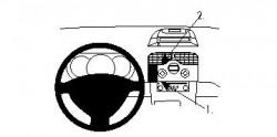 Fixation voiture Proclip  Brodit Renault Kangoo Réf 854206
