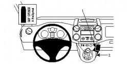 Fixation voiture Proclip  Brodit Citroen Berlingo Family  UNIQUEMENT pour changement de vitesse manuel. Réf 854210