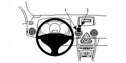 Fixation voiture Proclip  Brodit Renault Koleos Réf 854222