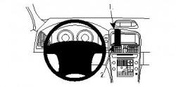 Fixation voiture Proclip  Brodit Volvo XC60  PAS pour les modèles avec option GPS d'origine. Réf 854259
