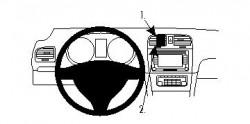 Fixation voiture Proclip  Brodit Volkswagen Golf Réf 854260