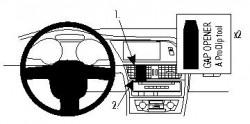 Fixation voiture Proclip  Brodit Audi A4 Avant Réf 854263