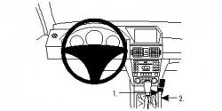 Fixation voiture Proclip  Brodit Mercedes Benz GLK-Class Réf 854269