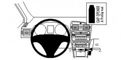 Fixation voiture Proclip  Brodit Toyota Avensis Réf 854281