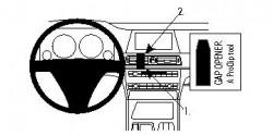 Fixation voiture Proclip  Brodit BMW 730-750 F01, F02 Réf 854298