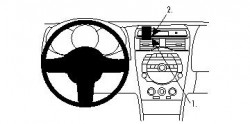 Fixation voiture Proclip  Brodit Mazda RX-8 Réf 854305