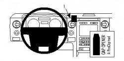 Fixation voiture Proclip  Brodit Ford F-Series 150  SEULEMENT pour les modèles avec garniture argent ou le grain du bois. Réf 854307