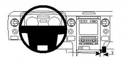 Fixation voiture Proclip  Brodit Ford F-Series 150  SEULEMENT pour plancher changement de vitesse. Réf 854308