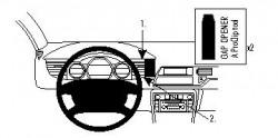 Fixation voiture Proclip  Brodit Citroen C5 III Réf 854329