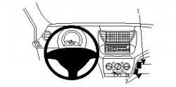 Fixation voiture Proclip  Brodit Nissan Pixo Réf 854336