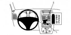 Fixation voiture Proclip  Brodit Peugeot 206+ Réf 854341