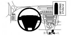 Fixation voiture Proclip  Brodit Toyota Prius Réf 854355