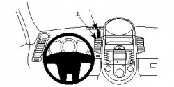 Fixation voiture Proclip  Brodit Kia Soul Réf 854370