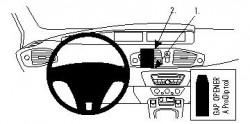 Fixation voiture Proclip  Brodit Renault Scenic Réf 854390