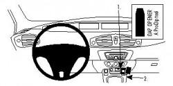 Fixation voiture Proclip  Brodit Renault Scenic  SEULEMENT pour le frein de parking manuel. Réf 854391