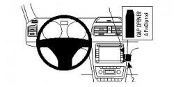 Fixation voiture Proclip  Brodit Skoda Yeti  SEULEMENT pour les modèles avec Swing et Blues stéréo d'origine. Réf 854394